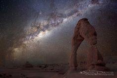"""The night sky at Delicate Arch"" by Wojciech Dabrowski, via 500px."