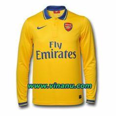 b33f9e3b346 Long sleeve soccer jersey - 2013-2014 Arsenal Away kit Arsenal Football