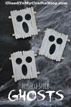 Ghost craft! Cute idea for Halloween speech therapy!
