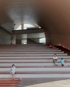 Large tunnels carve through Tadao Ando