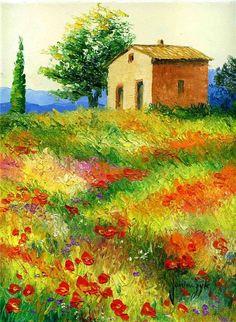 Сиреневые лепестки цветущей лаванды, ярко-красные - маков, солнечно-желтые - подсолнухов, оранжевые и тепло-зеленые - осенней и весенней листвы... Вот осно