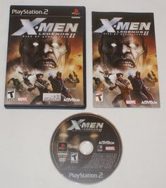 X Men Legends Ii Rise Of Apocalypse Sony Playstation 2 Ps2 2005 Complete Nice Activision