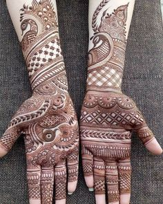 mehndi designs arabic simple and easy full hand Mehndi Designs Front Hand, Peacock Mehndi Designs, Khafif Mehndi Design, Latest Bridal Mehndi Designs, Full Hand Mehndi Designs, Henna Art Designs, Mehndi Design Pictures, Wedding Mehndi Designs, Latest Mehndi Designs