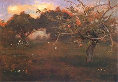 Stanisławsaki -   Sad - Biała Cerkiew  Ok. 1890. Olej na desce. 22,3 x 32,5 cm  Lwowska Galeria Sztuki.