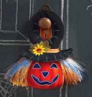 """Fiber Optic Pumpkin Door Hanger ~ $19.99!    Limited quantities available.     Avon exclusive. Fiber optic color-changing lights change from red to green to blue around face and hair. Uses 3 AAA batteries (not included). 9 1/2"""" L x 4 1/2"""" W x 13"""" H. Plush, plastic. For indoor or covered-outdoor area use. Imported.    Simply click the link to order yours today! Order by 9/18/12.  Shop Online & Save today!"""
