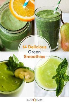 14 Deliciously Healthy Green Smoothie Recipes