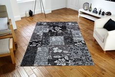 What a Stunning way to decorate your floor_ Simply Great!! #traditionalrugs #modernrugs #blackrugs #designerrugs #largerugs #runners