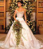 Victoria Beckam en robe de mariée