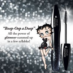 #Boop-Oop a Doop. All the power of #glamour summed up in a few syllables! #Betty #Boop #Inspiration #Lancome