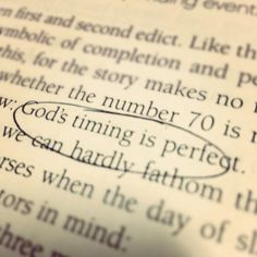 God's timing is PERFECT!