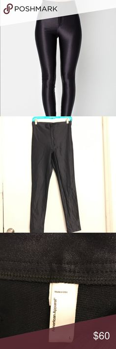 Original American Apparel Disco Pants !! 👖 Rare💥 ⚡️Rare⚡️Like NEW... American Apparel Black Disco Pants AMERICAN APPAREL IS NO LONGER IN PRODUCTION, GET THE ORIGINAL AMERICAN APPAREL DISCO PANTS.  UNFORTUNATELY, AMERICAN APPAREL FILED CHAPTER 7 - GOING OUT OF BUSINESS! GONE FOREVER! SIZE LARGE...TRUE TO FIT! DONT SETTLE FOR CHEAP CHINESE MADE KNOCKOFFS.......BUY AMERICAN ORIGINAL....AMERICAN APPAREL! NO RETURNS! American Apparel Pants