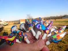 FANTASY RAINBOW deco MUSHROOMS are here. by allaboutmushrooms, $25.00
