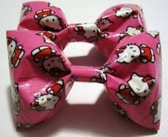 2 Hello Kitty Duct Tape Bows, i gotta try this! i-love-hello-kitty