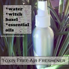 DIY Room Spray.....EASY recipe!!! You can even use Vodka (or witch hazel), add water and essential oils and you're done! NON TOXIC!!!