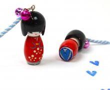 Ministempel - Glücksbringer - Geisha - Herz