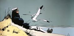 Hugo Pratt art print titled : Corto Maltese : Corto marin, on a heavyweight paper 50 x 25 cm. We also propose for sale a large choice of original works of Art and reproductions by contemporary artists Caricatures, Maltese, Illustrations, Illustration Art, Hugo Pratt, Blues, Bd Comics, Comic Artist, Graphic Art