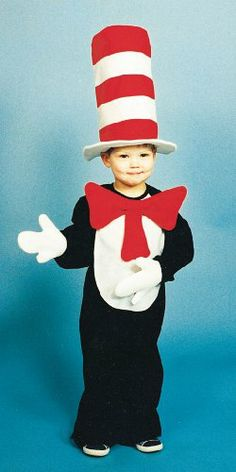 Cat In The Hat Toddler 2 To 4 Costume - http://www.halloween.quick-reviews.com/6400/cat-in-the-hat-toddler-2-to-4-costume.html