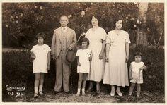 Turistas da década de 20 (sec. XX) em Cambuquira-mg