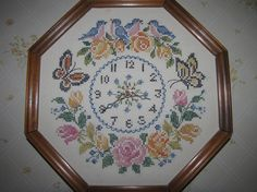 Embroidered Clock - via @Craftsy