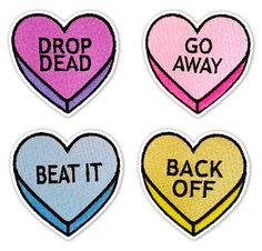 NO CONVERSATION Heart patches - Thumbnail 3
