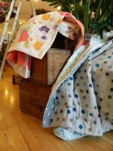 """One of the things I love most about my day job is how often I get to sew at work. And sew with lovely fabrics I might add. These Nani Iro """"lap duvet"""" blankets as seen on the Purl Bee bl… Lap Blanket, Minky Blanket, Purl Bee, Double Gauze Fabric, Baby Quilts, Duvet, Sewing Projects, Household, Quilting Ideas"""