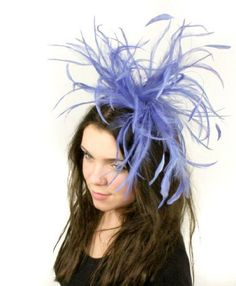Hats By Cressida Royal Blue Feather Kentucky Derby Fascinator Hat With  Headband Hats By Cressida cff7c0afac9