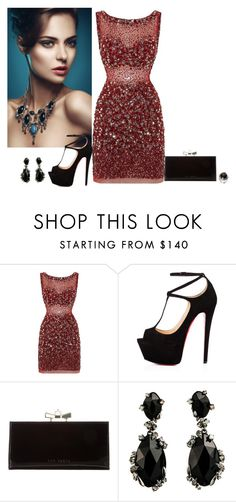 """""""Untitled #2410"""" by hucjob ❤ liked on Polyvore featuring Jovani, Talitha, Ted Baker, Alexis Bittar, women's clothing, women, female, woman, misses and juniors"""