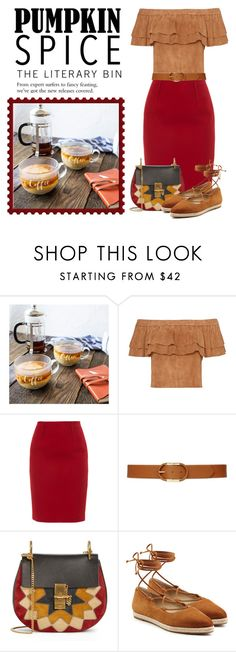 """""""Pumpkin Spice"""" by conch-lady ❤ liked on Polyvore featuring Cathy's Concepts, Paule Ka, Lauren Ralph Lauren, Chloé and Michael Kors"""