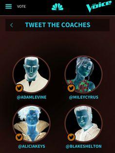 #theVoice #Coaches #TeamAdam #TeamAlicia  #TeamBlake #TeamMiley TeamA #TeamB #TeaMMHH