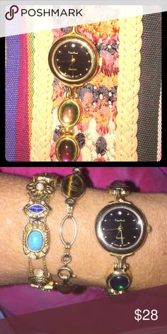 VTG PIERRE NICOL WATCH MOOD STONE OPAL GIFT IDEA VTG PIERRE NICOL WATCH MOOD STONE OPAL GIFT IDEA   Plz see pix ask any ?? Great gift idea. In excellent VTG conditions never been used nor worn. Can gift wrap. Will come in a gift box as well. Vintage Accessories Watches