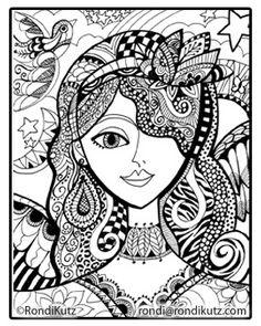 Coloracion Adulta Paginas Para Colorear Zen Mujeres Hermosas