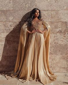 18 Gold Wedding Gowns For Bride Who Wants To Shine ❤ gold wedding gowns a line with floral saidmhamad #weddingforward #wedding #bride #weddingoutfit #bridaloutfit #weddinggown