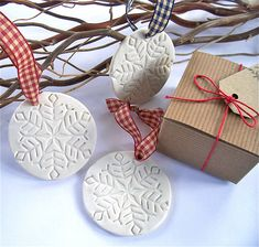 porcelain snowflake bauble in gift box by little brick house ceramics | notonthehighstreet.com