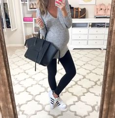 Comfy casual this morning  hubs surprised me with a prenatal massage and I…