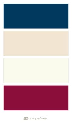 Navy, Champagne, Ivory, and Burgundy Wedding Color Palette - custom color palette created at MagnetStreet.com