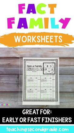 If your students need practice learning about fact families, then this 43 page set of Addition and Subtraction Printables is just what you need! I have included a variety different ways for your students to get lots of practice. These worksheets are great for 1st, 2nd, or 3rd grade and homeschool students. Use them review, math centers, or stations. #2ndgrademath #mathworksheets #facefamily #2ndgradeactivities 2nd Grade Activities, 2nd Grade Worksheets, 1st Grade Math, Place Value Worksheets, Money Worksheets, Fact Family Worksheet, How To Get Credit, Addition And Subtraction Worksheets, Classroom Pictures