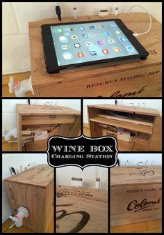 diy charging station smartphone ladestation selber bauen upcycling ikea etc. Black Bedroom Furniture Sets. Home Design Ideas