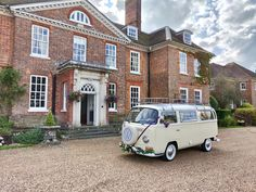 What a backdrop for a wedding! And check out our super cool wedding camper, Rupert! Available to hire across Sussex, Surrey, Kent and Hampshire! Wedding Hire, Park Hotel, Vintage Weddings, East Sussex, Vw Camper, Surrey, Hampshire, Backdrops, Check