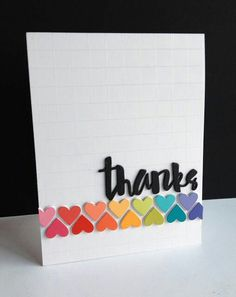 a couple cards with the sweet and uber pretty new Simon Says Stamp Heart Banner die and my rainbow colored paint chips! Cool Cards, Diy Cards, Paint Chip Cards, Tarjetas Diy, Karten Diy, Rainbow Card, Cricut Cards, Heart Cards, Card Making Inspiration