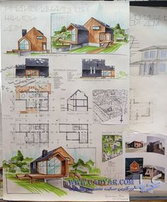 Collection of Hand Drawn Architecture presentation Sheets from around the world. - The A Fact Architecture Concept Drawings, Architecture Sketchbook, Architecture Plan, Landscape Architecture, Interior Architecture, Architecture Magazines, Planer Layout, Architecture Presentation Board, Presentation Board Design