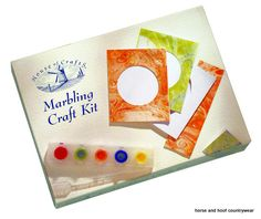 House of Crafts Start a Craft Marbling Kit An excellent introduction to this fascinating craft Contents Marbling inks marbling tray pipettes greeting