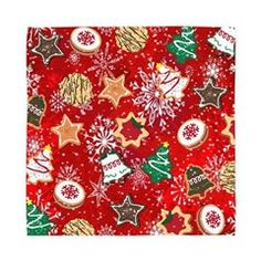 #Christmas #Cookies Cloth Dinner #Napkins  Lee Hiller Designs
