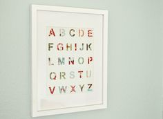 DIY Stencil Alphabet Art