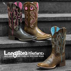 I LOVE THESE BOOTS, I LOVE ALL 3 PAIRS, I wonder if the ones on the left come in black and blue...that would be my choice