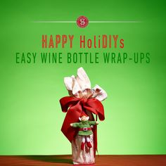 Skip the gift bag and try one of these creative ways to wrap up wine for the holidays!