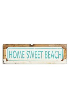 PONCHO & GOLDSTEIN 'Home Sweet Beach' Sign available at #Nordstrom