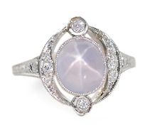 Celestial Wishes: Art Deco Star Sapphire Ring - simply gorgeous. Fancy shmancy:-)