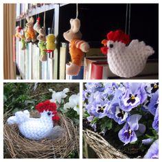 Crochet Easter chicken amigurumi by Helena Haakt (paaskipje haken)
