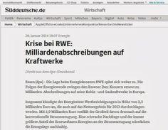 Während über die Ausrichtung der künftigen Energieversorgung in Bergisch Gladbach diskutiert wird, muss RWE (Anteilseigner der RheinEnergie) Milliardenabschreibungen bei konventionellen Kraftwerken vornehmen...