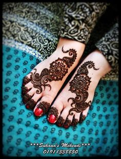 A beautiful henna design